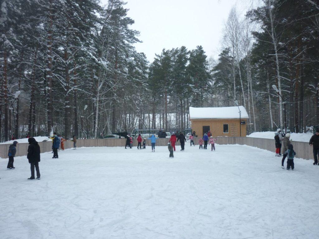 Каток в парке «Сосновый бор» Новосибирск