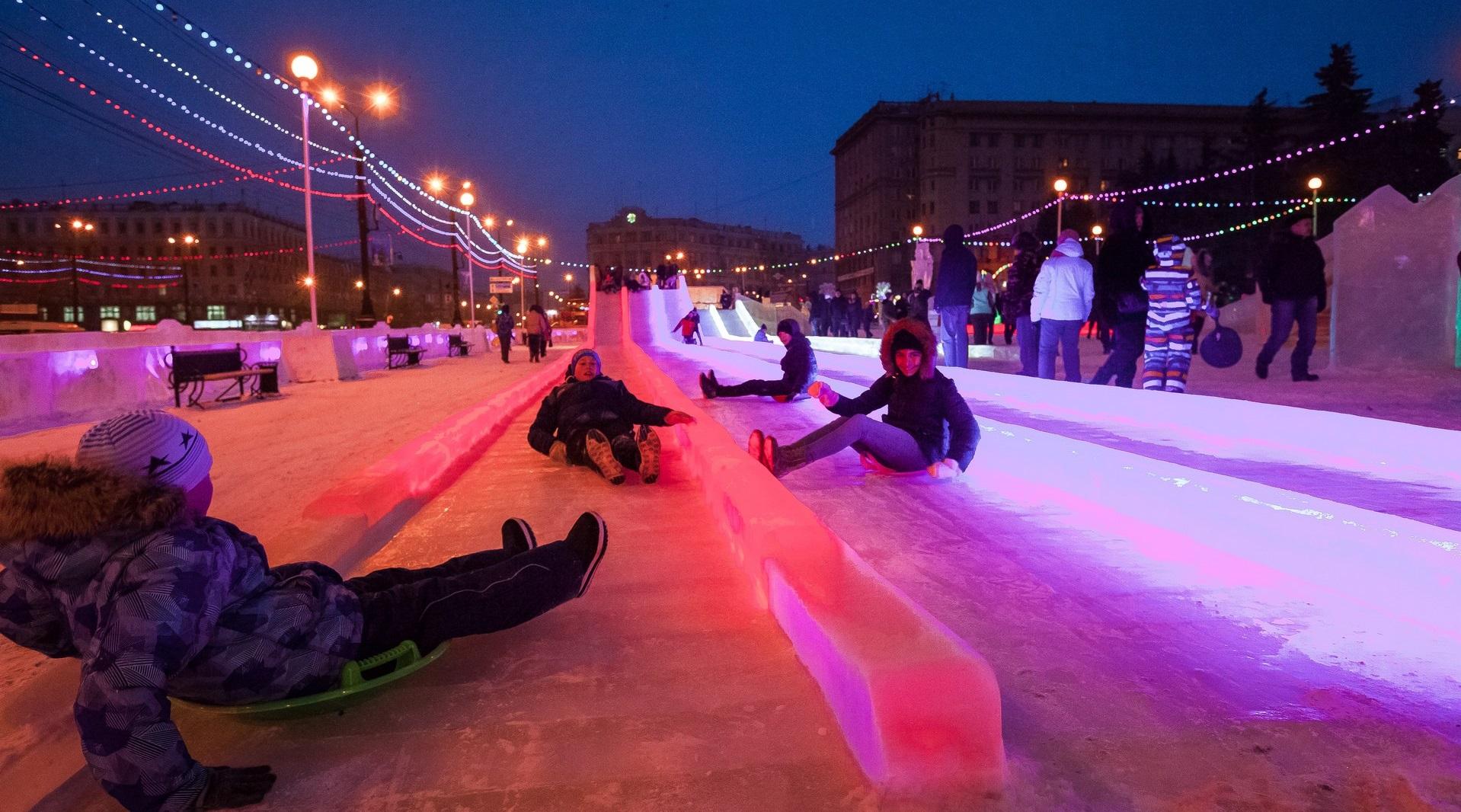 Катание на тюбингах в Екатеринбурге