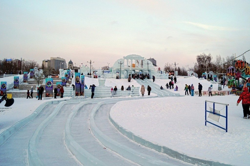 Ледовый городок на Набережной