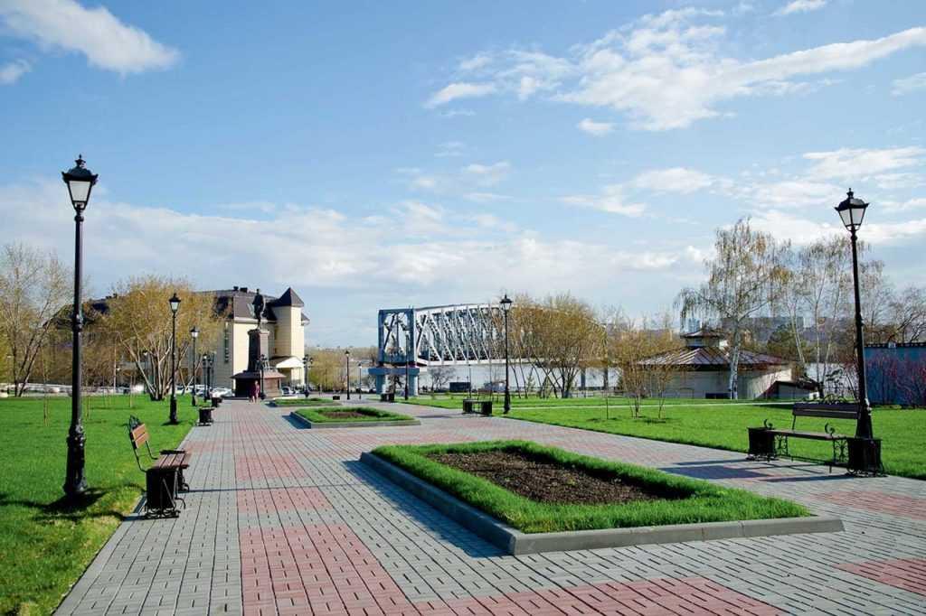 Михайловская набережная Новосибирска