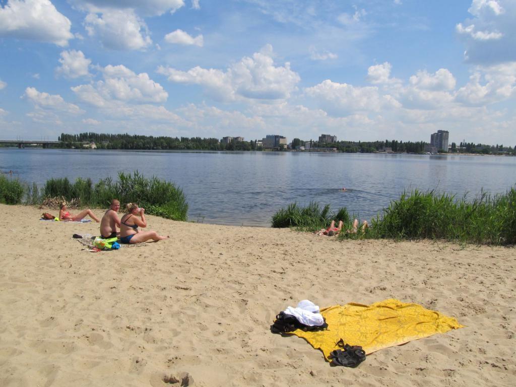 Пляж набережной Липецка