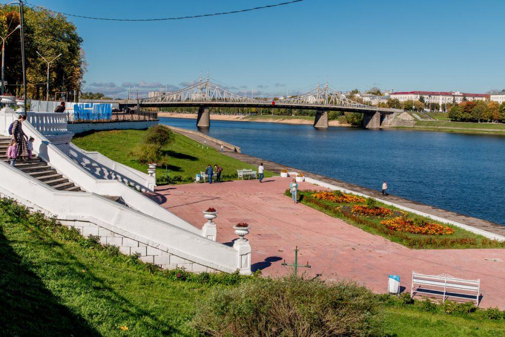 Инфраструктура набережной А. Никитина в Твери