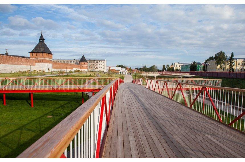 Парящий мост Тульской набережной