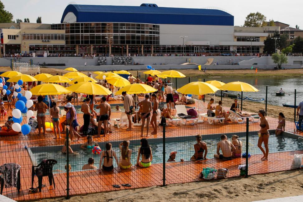 Пляж Кубанской набережной