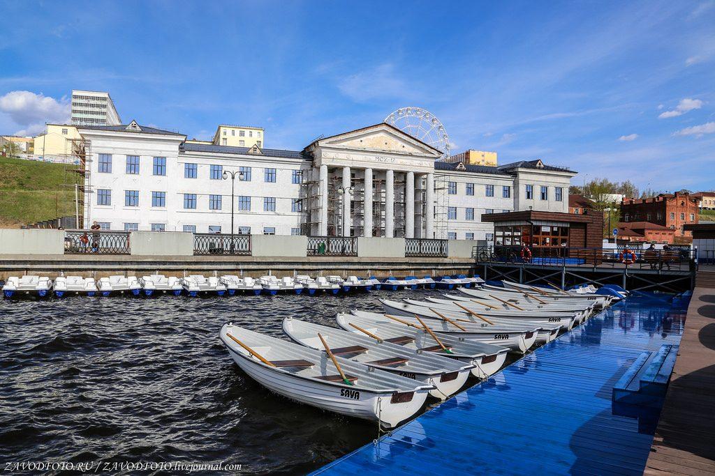 Набережная Ижевска прокат лодок
