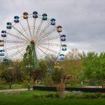 Парк аттракционов на набережной Керчи