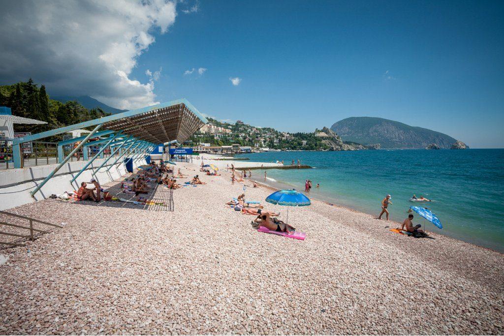 пляж Набережная Гурзуфа в Крыму