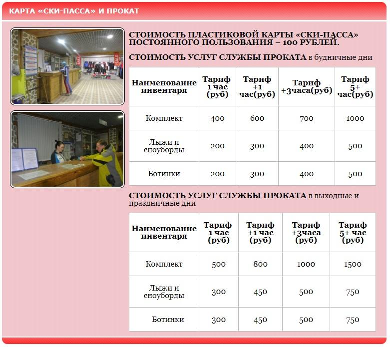 Цены и ски-пассы горнолыжного клуба Миловка
