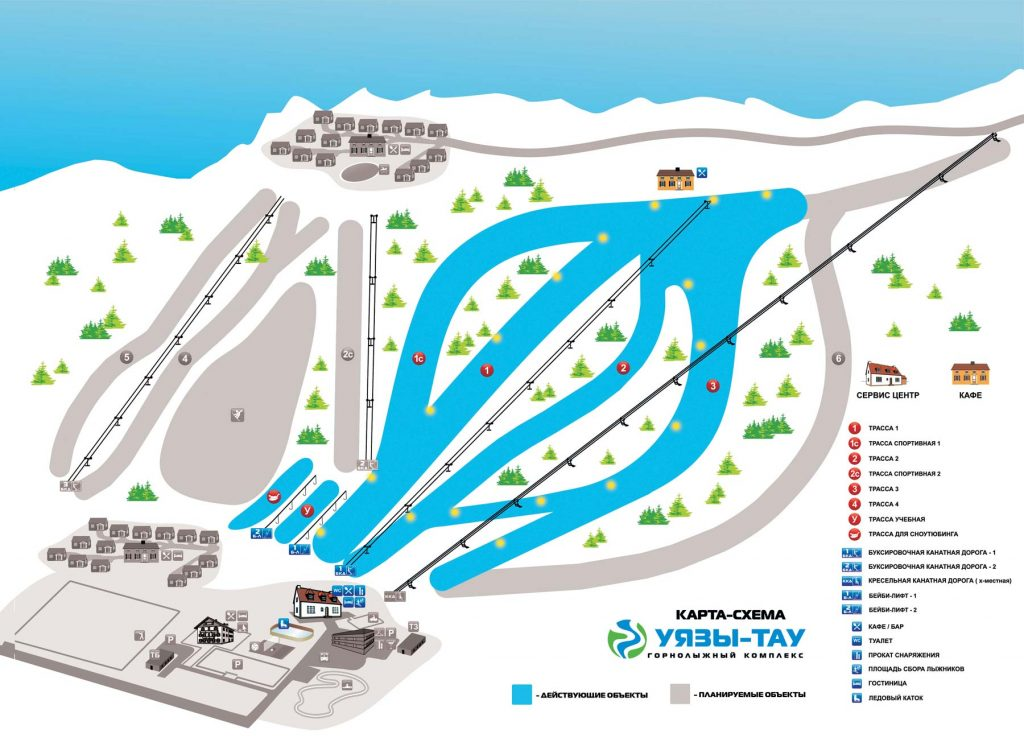 Схема трасс Уязы-Тау