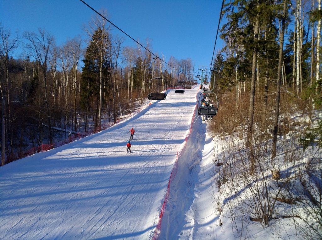 Трассы горнолыжного курорта Волен