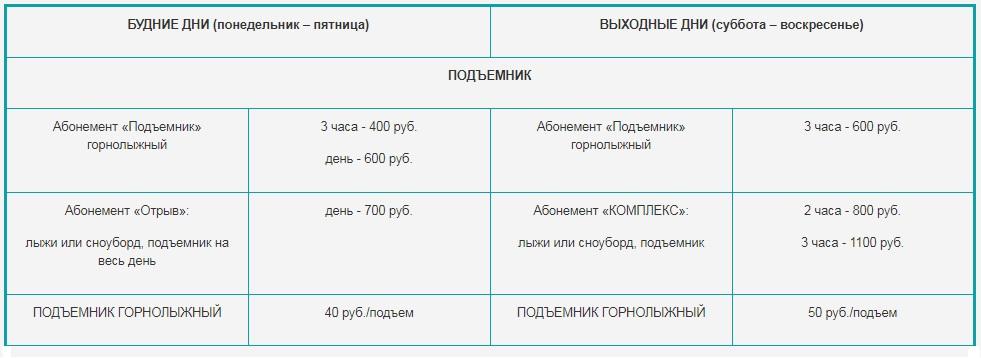 Цена Ключи - горнолыжный комплекс в Новосибирске