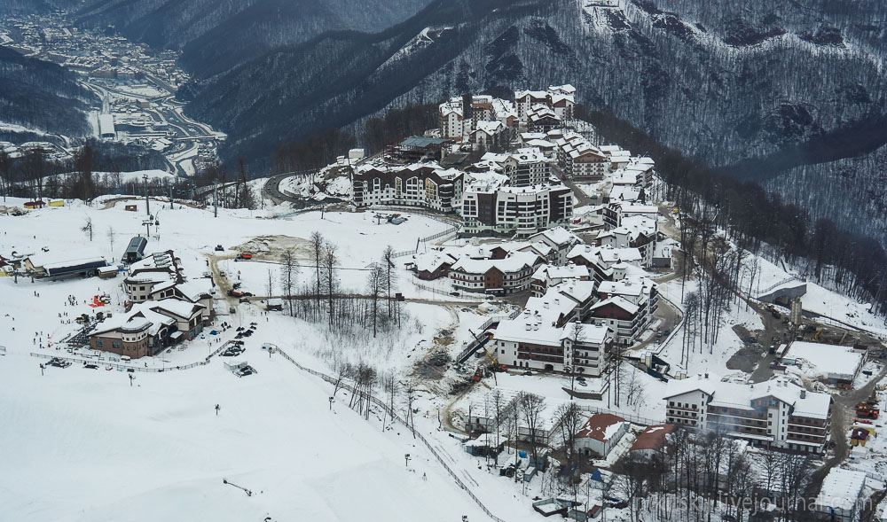 Олимпийская деревня Горнолыжный курорт Газпром в Сочи
