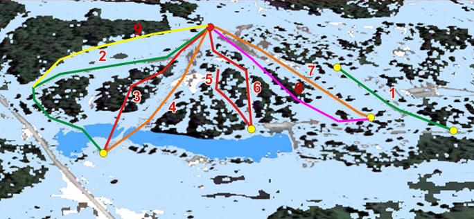 Схема трасс Ключи - горнолыжный комплекс в Новосибирске