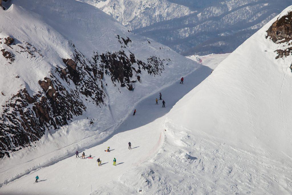 Трассы Горки Город - горнолыжный курорт в Сочи