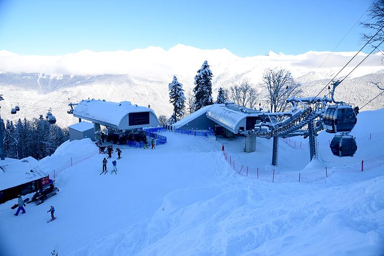 Подъемники Роза Хутор - горнолыжный курорт
