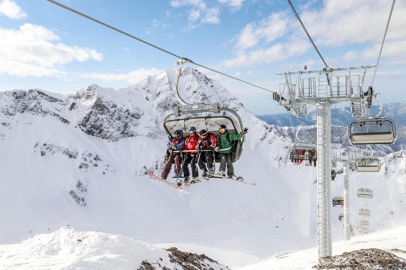Подъемники и канатные дороги Горки Город - горнолыжный курорт в Сочи