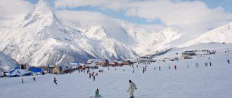 Домбай - горнолыжный курорт в Карачаево Черкесии