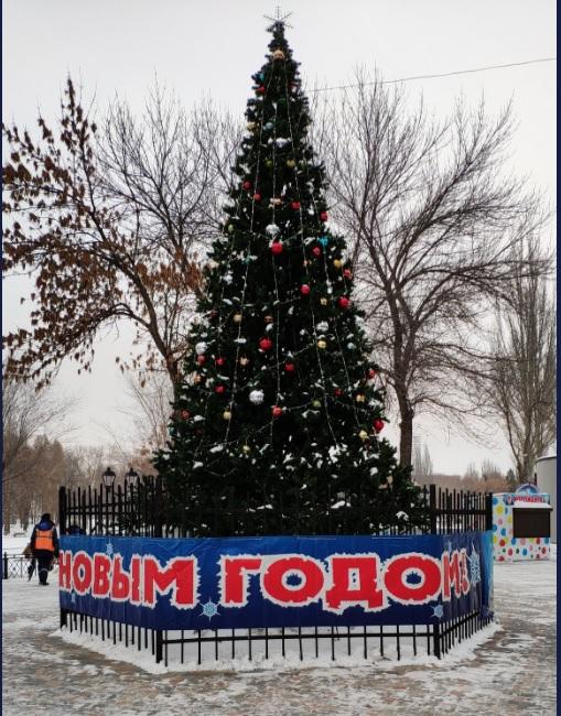 Елка в парке Металлургов