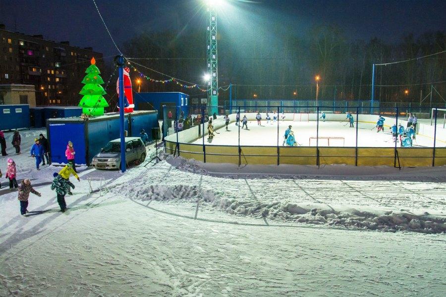 Каток на стадионе «Чкаловец» новосибирск