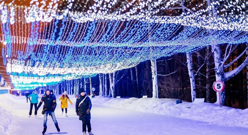 Каток в парке Кирова Ижевск, фото www.izh.ru