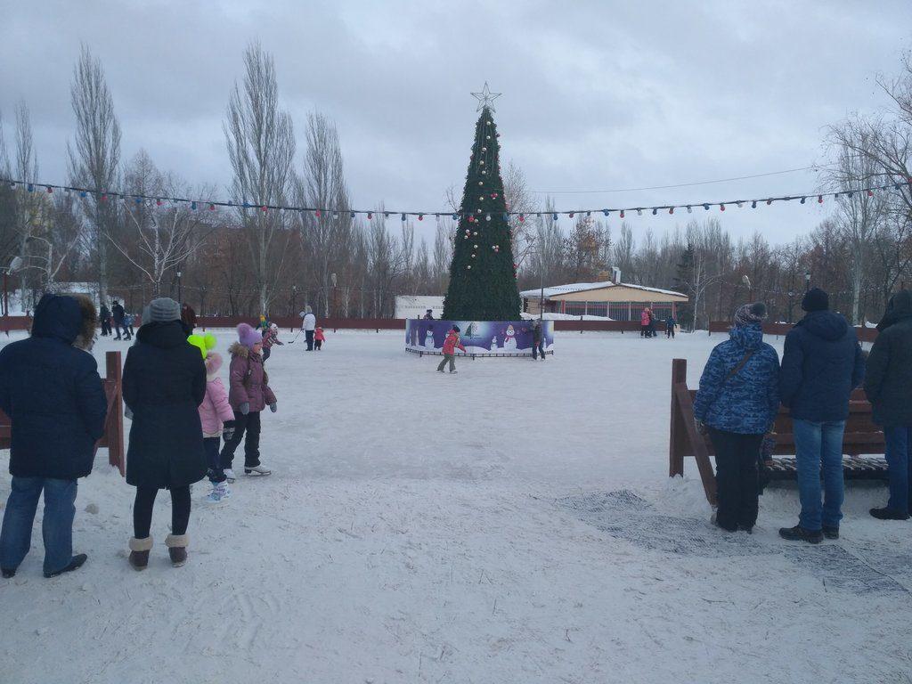 Каток в парке Победы