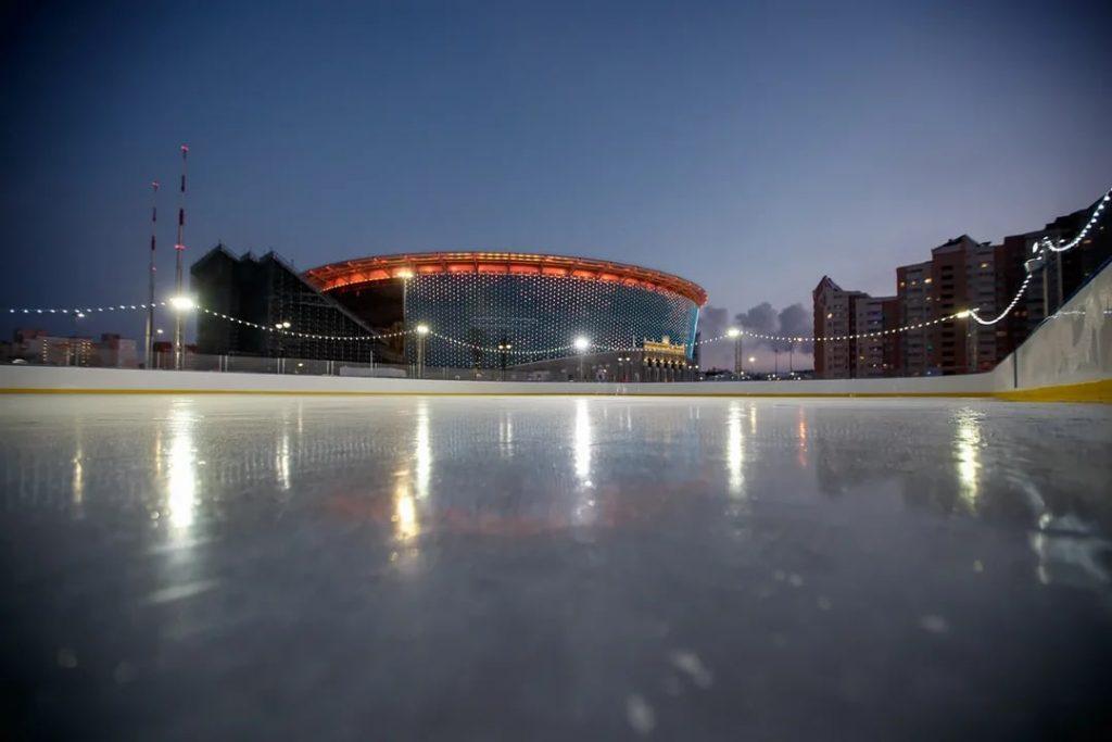 Каток у Екатеринбург Арены